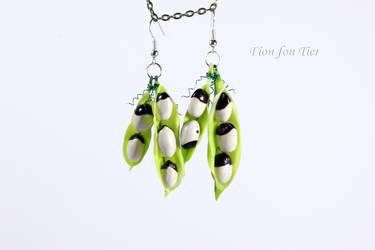 Pea Pod Polymer Clay Earrings by fion-fon-tier