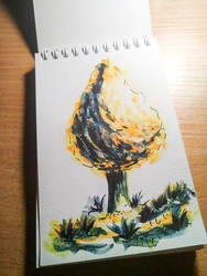 Water color tree