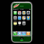 Custom Mountain Dew iPhone