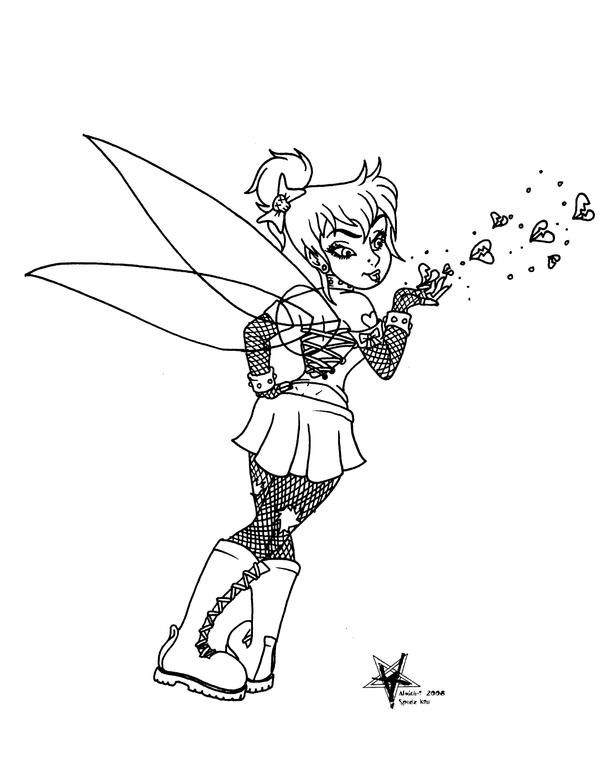 gothic tinkerbell coloring pages - goth tinkerbell flashart by almigh t on deviantart