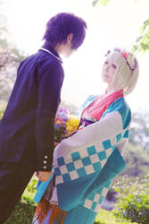 Aoi no Exorcist -  Rin and Shiemi by AilesNoir