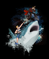The Shark Rider vs The Wizard by RothSothy