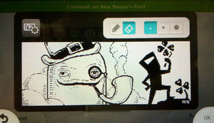 Miiverse: BIT.TRIP pres. Runner2 (St. Patty's Day) by RothSothy