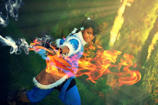 Korra Cosplay | Young Avatar Training