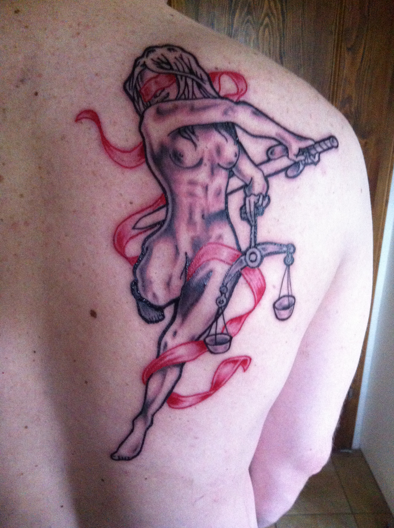 Justizia tattoo by al stars on deviantart for Tattoo shops in mobile al