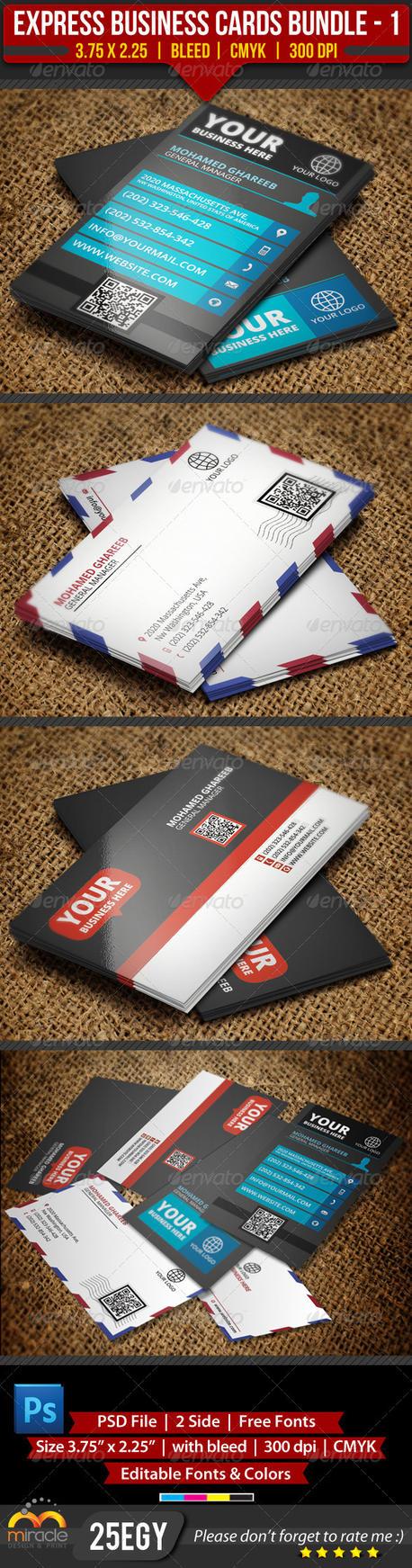 Express Business Cards Bundle 1 by EgYpToS on DeviantArt