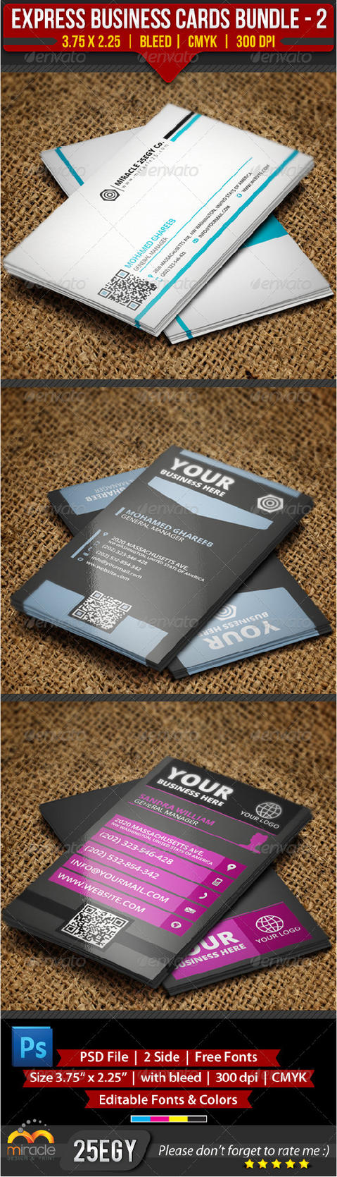 Express Business Cards Bundle 2 by EgYpToS on DeviantArt