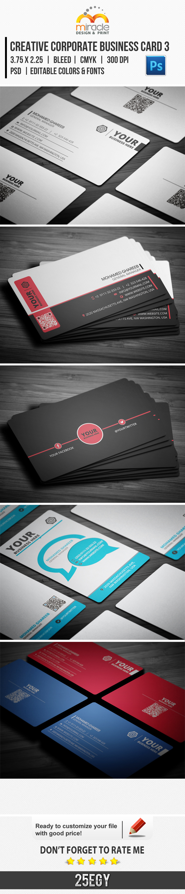 Express Business Cards Bundle 3 by EgYpToS on DeviantArt