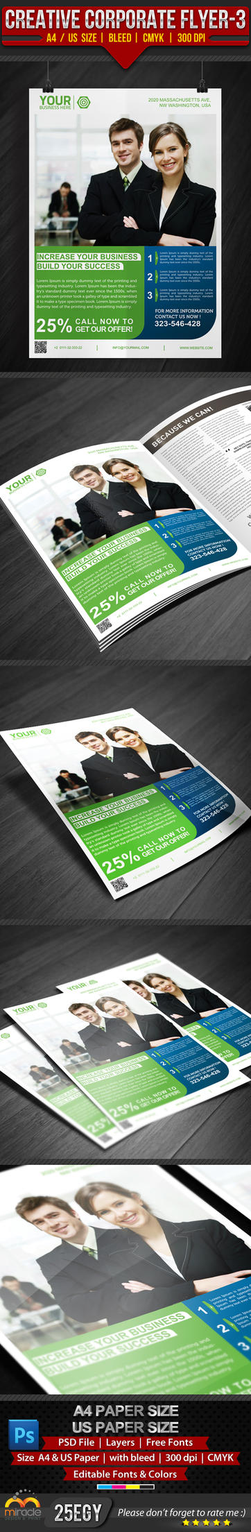 Creative Corporate Flyer 3 by EgYpToS