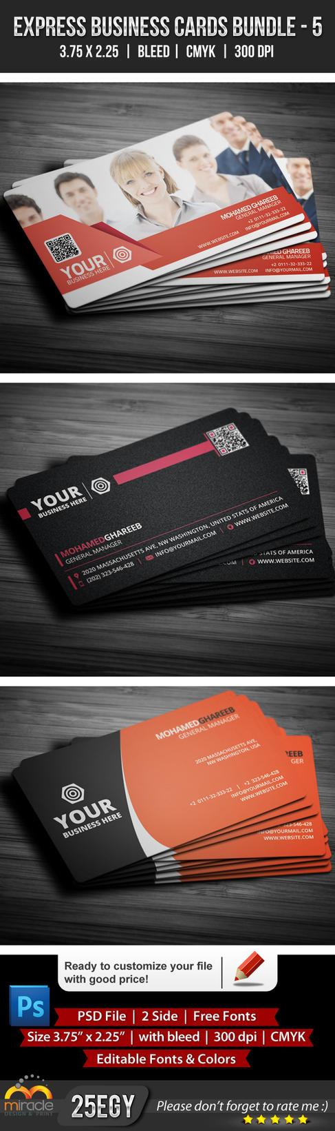 Express Business Cards Bundle 5 by EgYpToS on deviantART