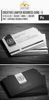 Creative Lawyer Business Card #5