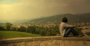 Me in Bergamo by qwstarplayer