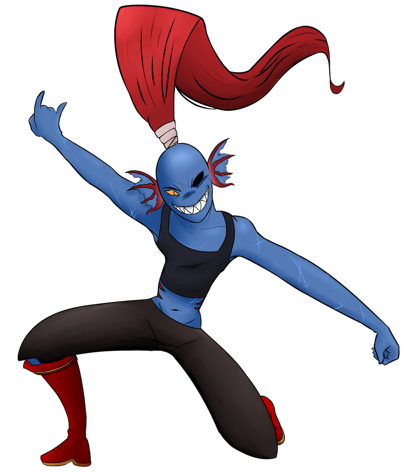Rock it out undyne by kagster on deviantart