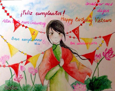 Happy birthday Viet nee by SophieLee2000