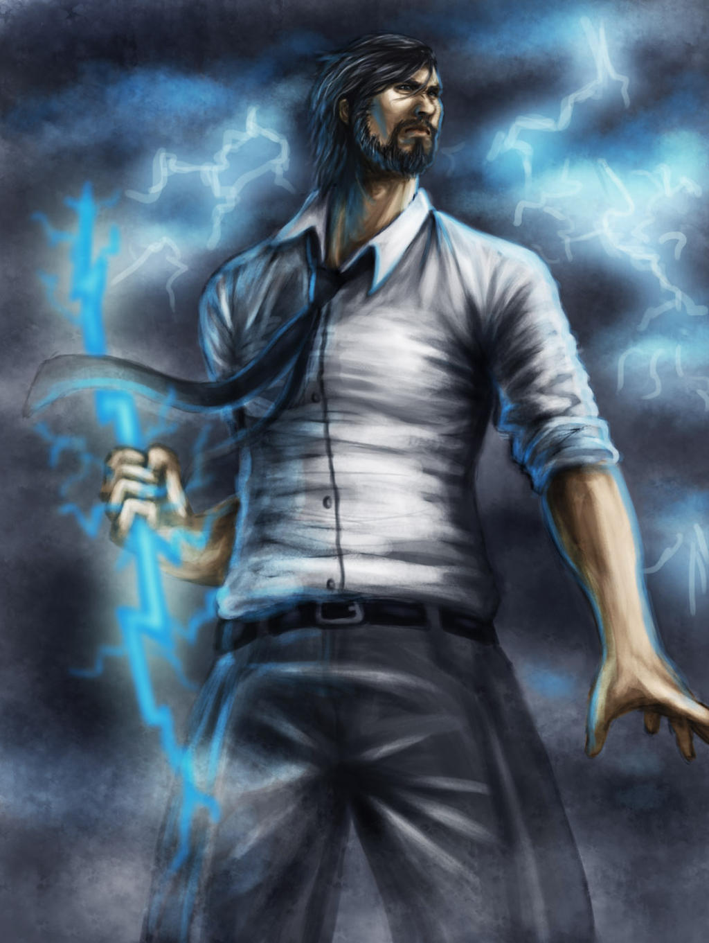 Young Zeus by G4r4 on ... Zeus Digital Painting