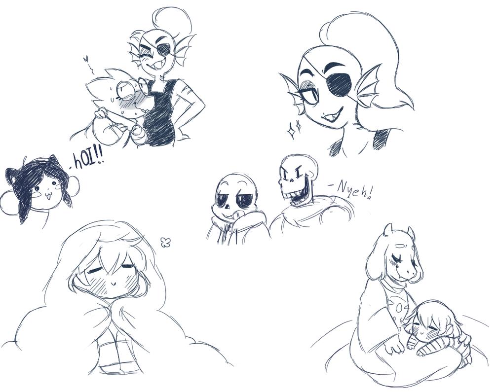 Undertale Doodles For Some Reason By KatPixl On DeviantArt