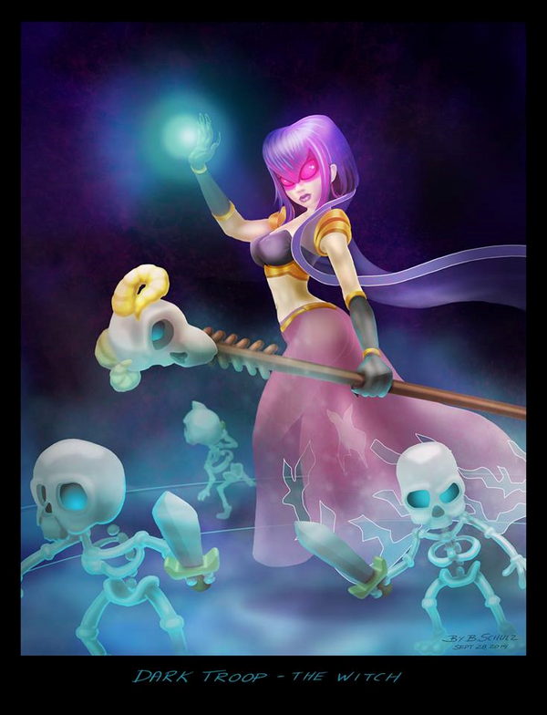 Clash of Clans Witch by BirgSc on DeviantArt