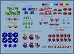 Sonic the Hedgehog - Assorted Badniks sprite sheet