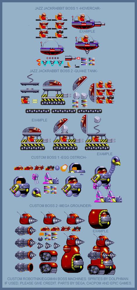 Sonic The Hedgehog Custom Eggman Robotnik Bosses By Retrobunyip On Deviantart
