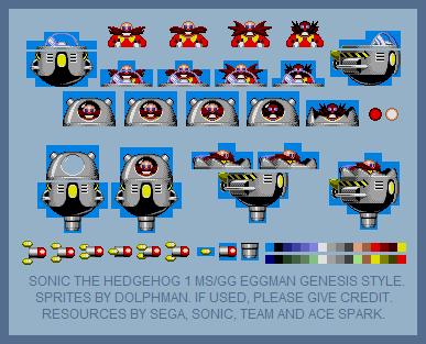 STH1 Dr. Eggman/Robotnik 8-bit (Genesis Style) by retrobunyip