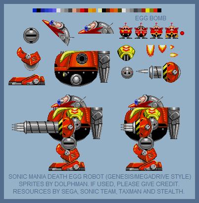 Sonic Mania Death Egg Robot Genesis Style By Retrobunyip On Deviantart
