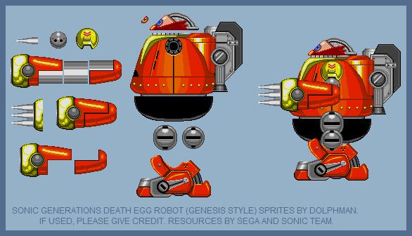 Sonic Generations Death Egg Robot (Genesis style) by retrobunyip