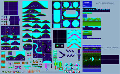 Sonic styled Planet Diamondus (Jazz Jackrabbit)