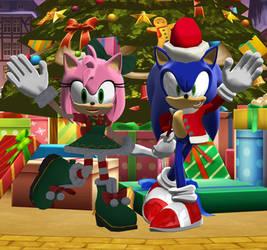 [MMD] Sonic and Amy Christmas 2020