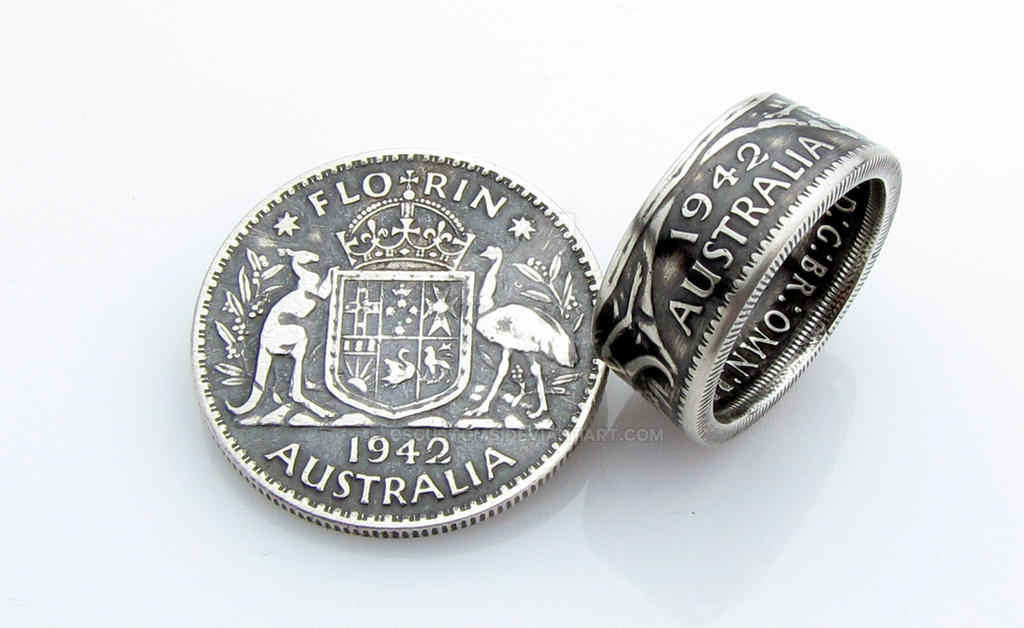 Australia Florin Coin Ring by TCSCustoms
