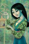 Mulan colouring book