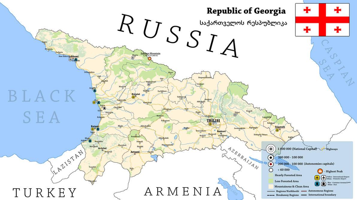Map Of Republic Of Georgia.Alternate Republic Of Georgia By Breakingerr On Deviantart