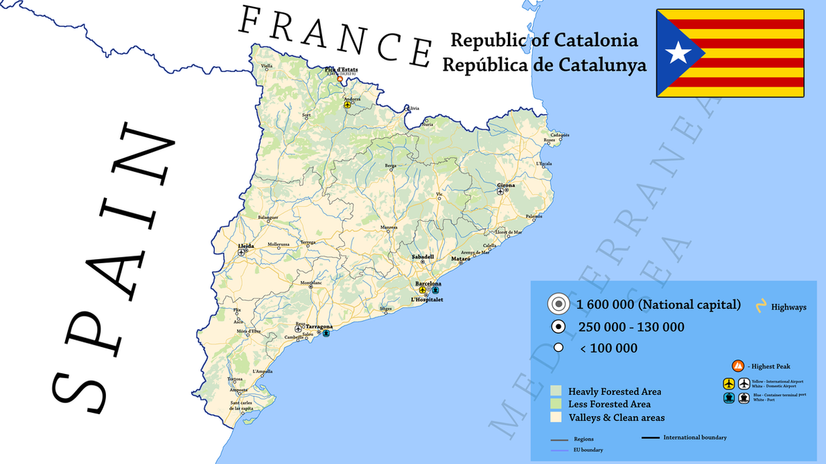 World Map Catalonia. Republic of Catalonia by Breakingerr  on DeviantArt