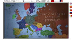 Europe 1922 - Dual Franco-Soviet Alliance.