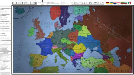 Europe 1938 - Decline of German Empire by Breakingerr