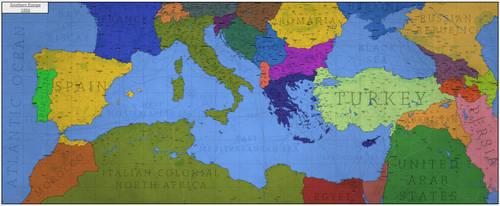 Southern Europe - 1956 by Breakingerr