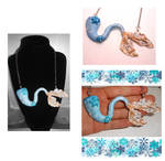 One of a kind winter frozen mermaid tail necklace by MiniSweetx