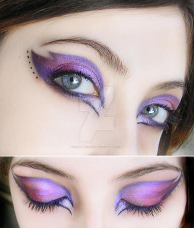 make-up purple