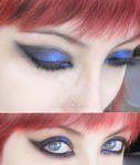 make-up blue and black