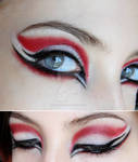 make-up red black white