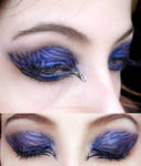 make-up blue black zebra