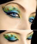 Peacock make-up 2