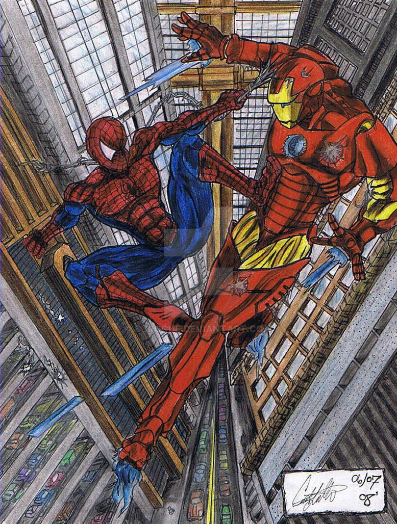 Iron Man Vs. Spiderman by CJRogue on DeviantArt