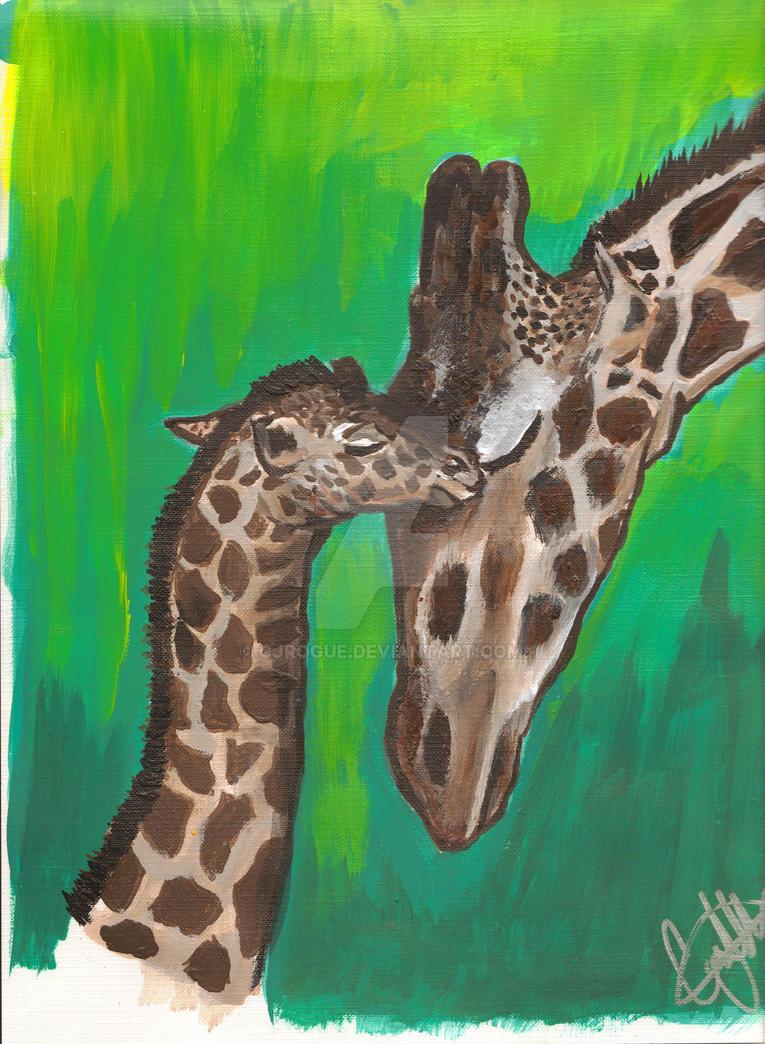 giraffes by CJRogue