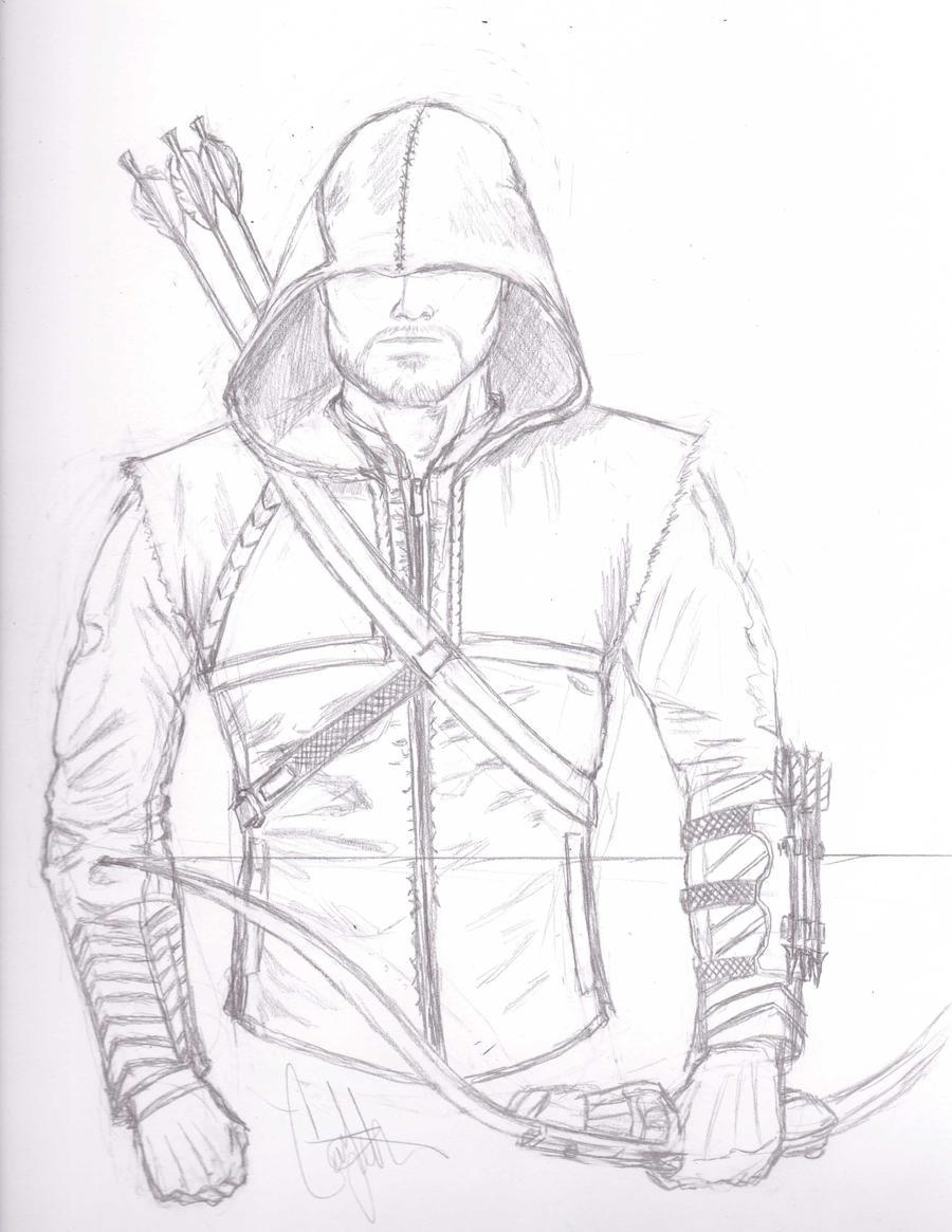 Line Art Arrow : Green arrow by cjrogue on deviantart