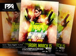 Toxic Night Party Flyer PSD Template