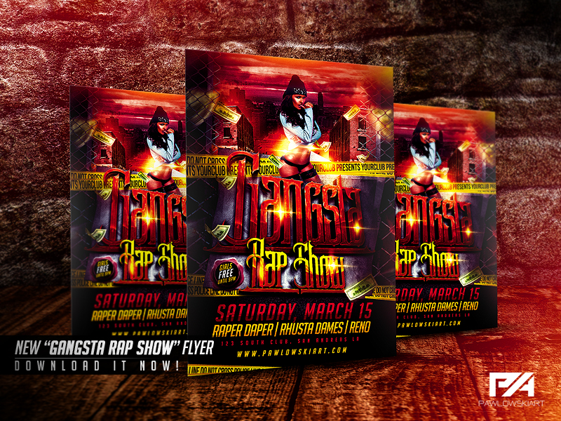 gangsta city rap flyers ecza productoseb co