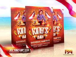 King's Day / KoningsDag Party Flyer Template by pawlowskiart