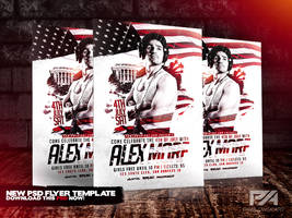 4th of July Special Guest Party Flyer Template by pawlowskiart