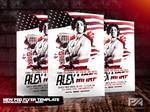 4th of July Special Guest Party Flyer Template