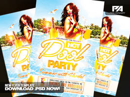 Hot Pool Party PSD Flyer Template by pawlowskiart